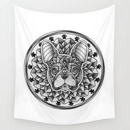 Ornate French Bulldog Wall Tapestry