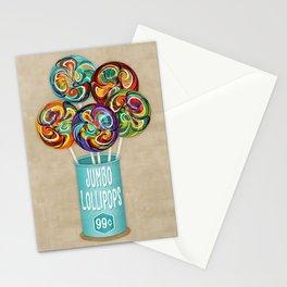 Colorful Kaleidoscope Lollipops Stationery Cards