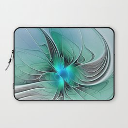 Abstract With Blue 2, Fractal Art Laptop Sleeve