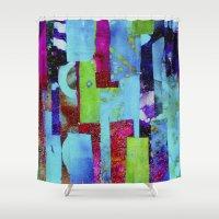 batik Shower Curtains featuring Batik by Gabbie Braun