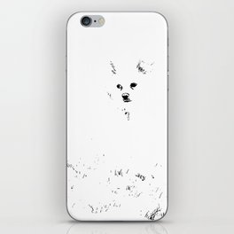 Bare Minimum Dog iPhone Skin