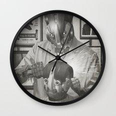 Cyber Barber Wall Clock