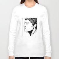 castiel Long Sleeve T-shirts featuring castiel by angelcanvas