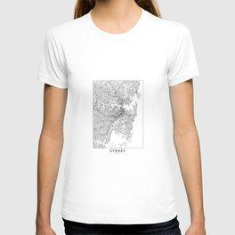 Sydney White Map T-shirt