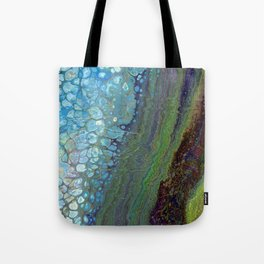 Age And Beauty - Original, abstract, fluid, marbled painting Tote Bag