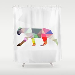 Crystal Lioness Shower Curtain