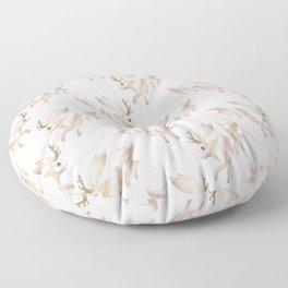 White Jackalope Floor Pillow