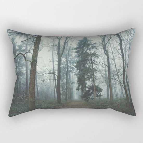 Misty Woods II #adventure #photography Rectangular Pillow