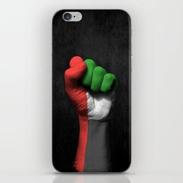 UAE Flag on a Raised Clenched Fist iPhone Skin