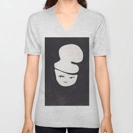Catty Does Not Approve   | 181218 Faces Watercolour Kawaii Unisex V-Neck