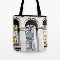 religion Tote Bags featuring religion by Hannah