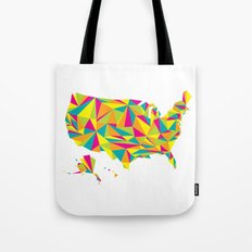 Abstract America Bright Earth Tote Bag