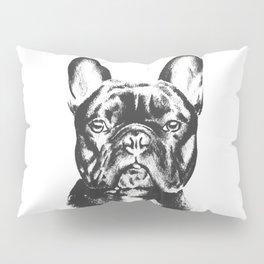 Black And White French Bulldog Sketch Pillow Sham