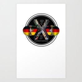 1975 Generation X German Skateboard Art Print