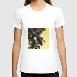 High palms poster in yellow T-shirt
