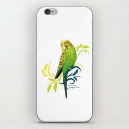 Green Parakeet iPhone Skin