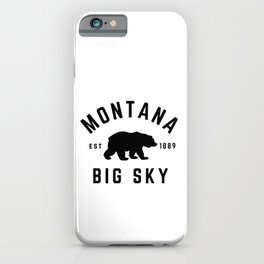 Montana Grizzly Bear Big Sky Country Established 1889 Vintage iPhone Case