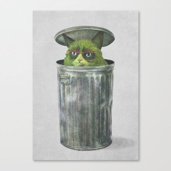 Grouchy Cat  Canvas Print