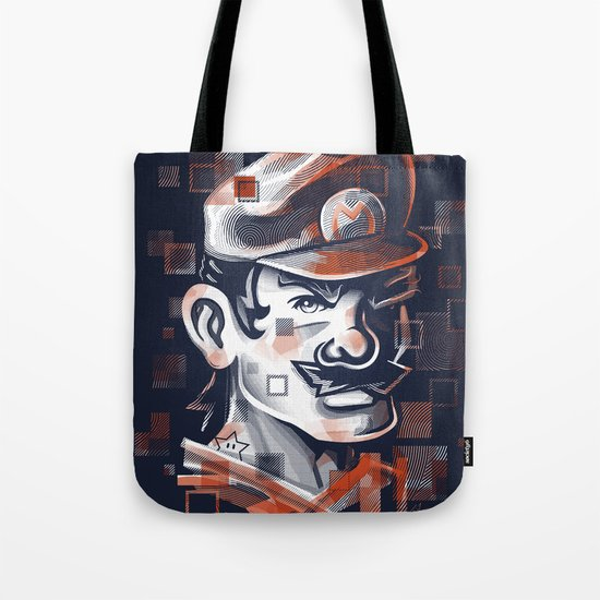 Depixelization M Tote Bag