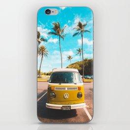 Classic V W Bus at Beach iPhone Skin
