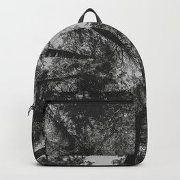 Tree Tops // black and white Backpack