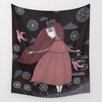 key Wall Tapestries featuring The Key by Judith Clay