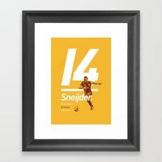 Sneijder Galatasaray Framed Art Print