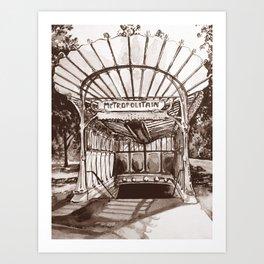 Métro Porte Dauphine - Hector Guimard Art Print