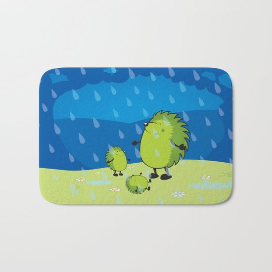 happy when it rains Bath Mat