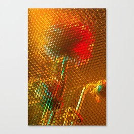 Floral Honeycomb Sunshine Canvas Print