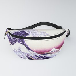 The Great wave purple fuchsia Fanny Pack