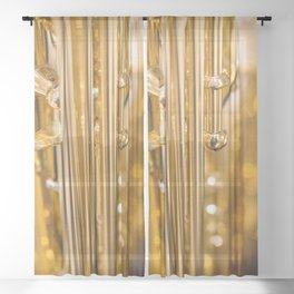 Dazzling Sound Contemporary Saxophone Sheer Curtain