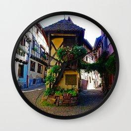 The magica little village of Eguisheim, Alsace, France Wall Clock