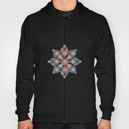Abstract Star Flower Pattern Hoody