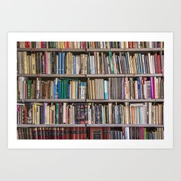 Library books Art Print