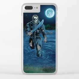 Hockey Masked Killer Clear iPhone Case