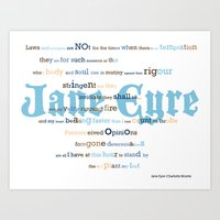 jane eyre Art Prints featuring Jane Eyre Quote by Lisa Naselli