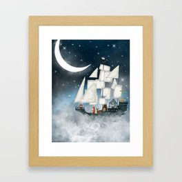 a nautical adventure (above the clouds) Framed Art Print
