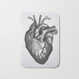 A Heart Bath Mat