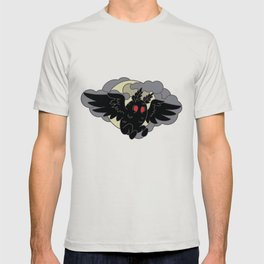 Mothman and the moon T-shirt