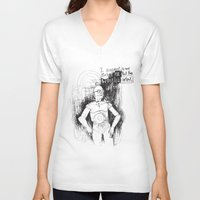 c3po V-neck T-shirts featuring C3PO by Samantha Chiusolo