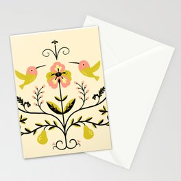 Hummingbirds and Pears Stationery Cards