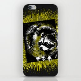 Here comes the Racoon - Animals Serie iPhone Skin