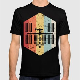 Retro ISS International Space Station Icon T-shirt