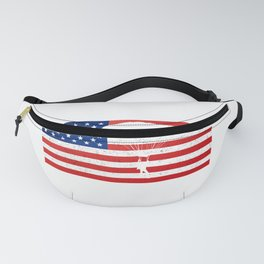 Funny USA National Flag Skydive product - Perfect Gift Fanny Pack