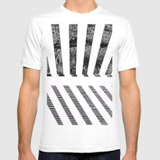 Parallel shadows inverted White MEDIUM Mens Fitted Tee