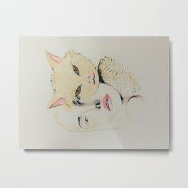 ladycat Metal Print