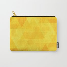 Bright yellow triangles in intersection and overlay. Carry-All Pouch