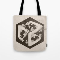 lady gaga Tote Bags featuring BOX by Ali GULEC