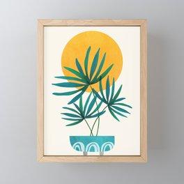 Little Palm + Sunshine Framed Mini Art Print